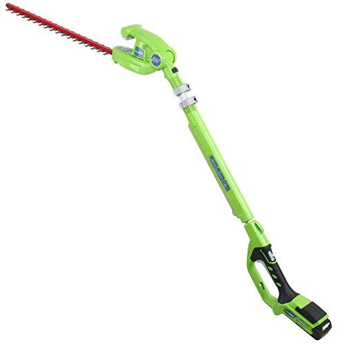 Greenworks G24PH51K2 24v Cordless Long Reach Hedge Trimmer 510mm Blade with 1 Li-ion Battery 2ah