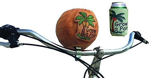Grow a Pair Coconut cup holder beachcruiser bike drink and accessory holder with coozie GrowaPair