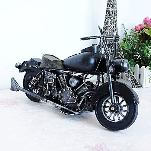 GSKTY Home decoration Large tin motorcycle model living room Decoration gift 37 * 10 * 21cm
