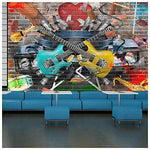 Guitar & Music Wall Mural Graffiti Photo Wallpaper Kids Bedroom Home Decor available in 8 Sizes X-Small Digital