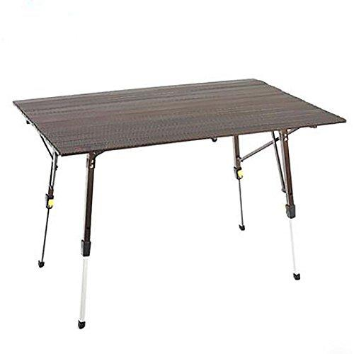 GUO Aluminum Alloy Adjustable Outdoor Picnic Desk Camping Foldable Table