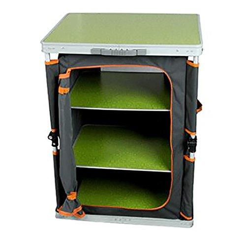 GUO Aluminum Alloy Portable Storage Cabinet Fibreboard Outdoor Camping Picnic Cabinet Car Multifunctional Folding Table