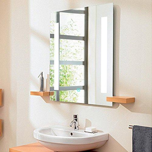 GURUN Lighted Bathroom Mirror with Anti-fog Function,Touch On/Off Switch 17002