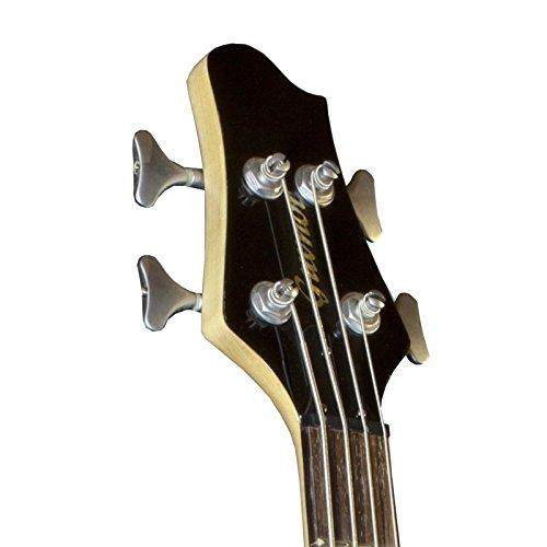 Guvnor By Chase GB500BK Electric Bass Guitar in Metallic Black With SoapBar  Pickups and Flamed Maple Top