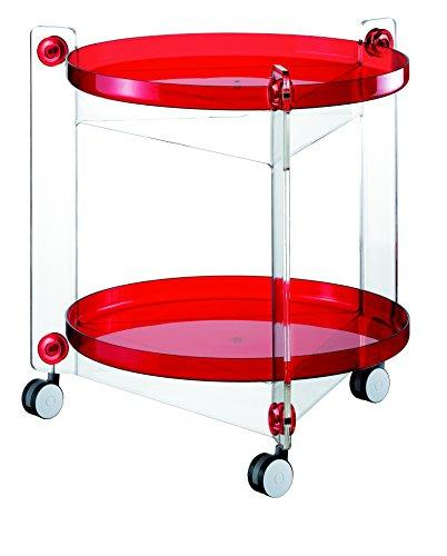 Guzzini Massoni Casa 01150165 Serving Trolley Red / Transparent
