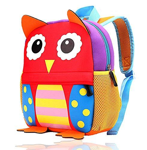 GXY Cartoon Children's School Bag Ultra Light and Environmentally Friendly Cute Children's Backpack Backpack (Pattern : Owl, Size : M)