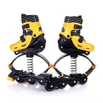 GxYue Jumping Trainers 2 in 1 Fitness Jump Shoes Bounce Shoes & Inline Skates - Space Bouncing Shoes - Anti-Gravity Running Boots for Dancing, Running,Basketball (Color : Yellow, Size : L)