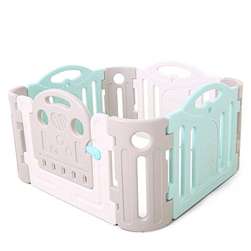 GYH Baby Game Safety Fence Children's Playpen Guardrail Play Yard Indoor Toddler Crawling Door Bar Toy Playground Plastic PE ( Size : 120*120*68cm )