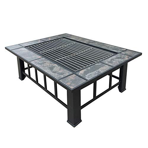 GYH-CHU BBQ Grill, Stainless Steel BBQ Charcoal Grill, Portable Outdoor Barbecue Griddle Cooking Appliance for Camping, Tailgating, Backpacking (37 * 27.9 * 18.1 inch)