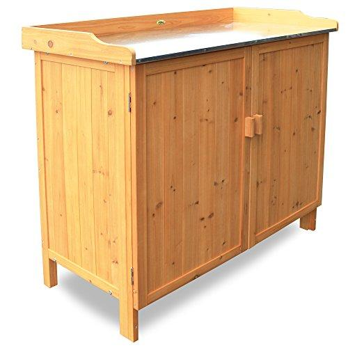 Habau 3106 Garden Table with Underneath Cupboard