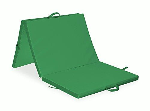 "Habys 3 part Folding Mat 77x39x2"" Gymnastics Rehabilitation Exercise green"