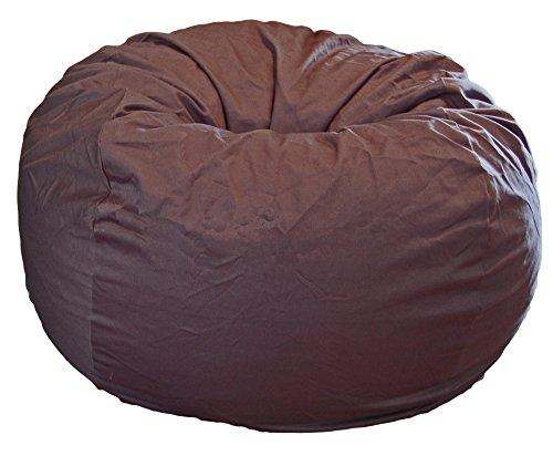 HAHAHA Ahh! Products Gray Organic Cotton Large Bean Bag Chair