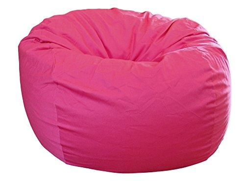 HAHAHA Ahh! Products Hot Pink Organic Cotton Large Bean Bag Chair