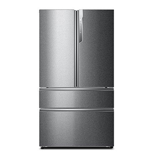 Haier HB25FSAAA 1 m Wide Multi Door Fridge Freezer, Silver