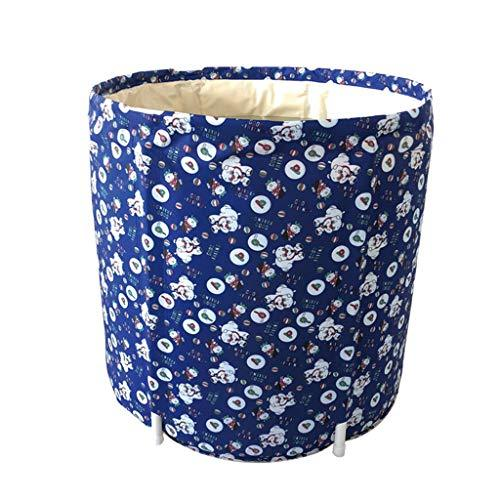 HAIYING Folding Bath Barrel, Adults Bath Barrel Adult Household Bath Barrel Folding Bath Quilted Padded Bath Barrel 65 * 70cm (color : A, Size : 65 * 70cm)