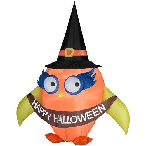 Halloween Airblown Inflatable Falloween Owl with Banner