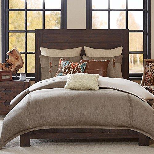 Hampton Hill Roaring River Queen Size Bed Comforter Duvet 2-In-1 Set Bed In A Bag - Taupe, Jacquard – 8 Piece Bedding Sets – Ultra Soft Microfiber Bedroom Comforters
