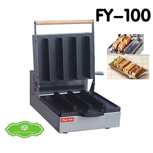 Hanchen FY-100 Commercial Electric Non-stick Danish Sandwich Maker Making Machine Toaster Baker (110V)