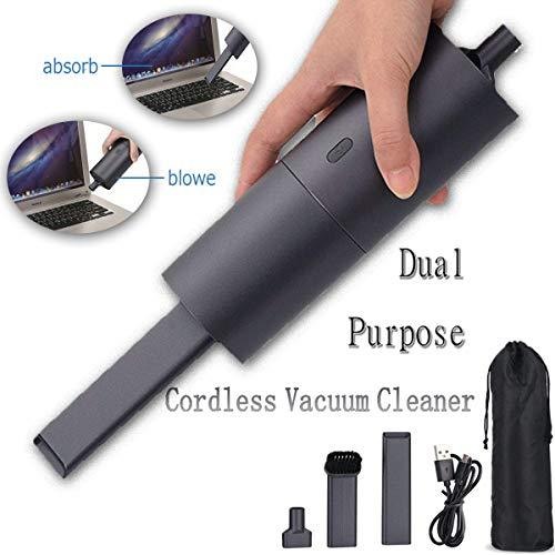 Handheld Vacuums Cordless Blower Car Vacuum Cleaner Rechargeable Strong Cylinder Mini Portable Vac 2KPA,3h Lithium Quick Charge,Wet/Dry Lightweight Keyboard Pet Home Office Car Cleaning