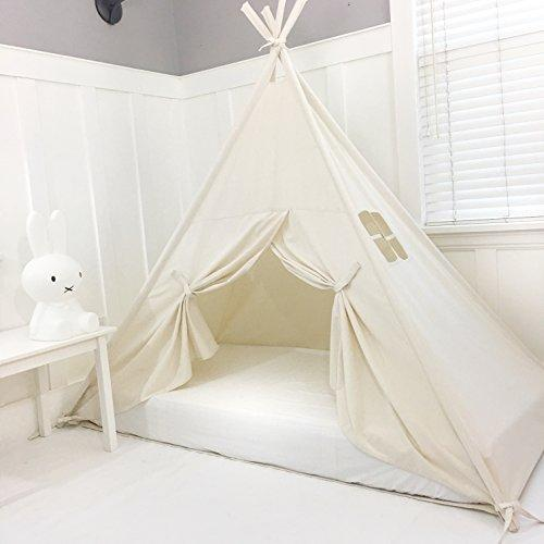 Handmade All Natural Cotton Canopy Play Tent Toddler Bed. Comes with Doors! Great for Transitioning from Crib to Bed