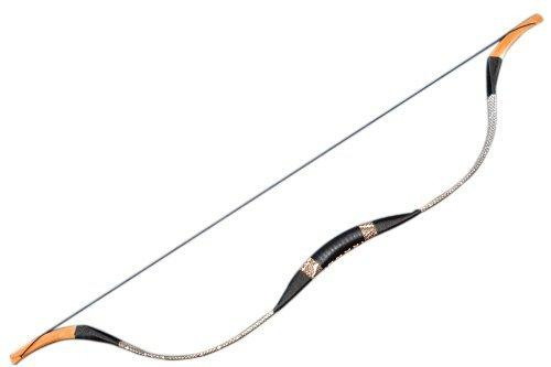 Handmade Black Snakeskin Leather Recurve Bow Traditional Longbow Archery 60lb