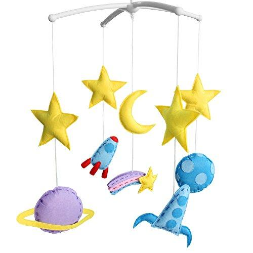 Handmade Gift, [Space Exploration] Baby Wind-up Crib Mobile, Creative