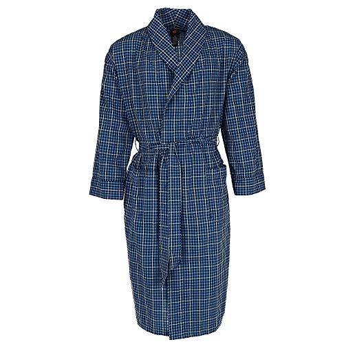 Hanes Men's Big and Tall Lightweight Woven Dressing Gown, 5X/6X, New Blue