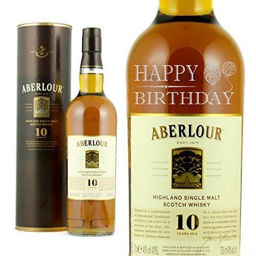 Happy Birthday Engraved Bottle Of Aberlour Whisky 70cl