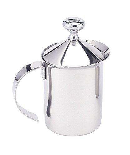 Harold Import Co 43127 HIC Milk Creamer Frother Cappuccino Coffee Foam Pitcher with Handle and Lid