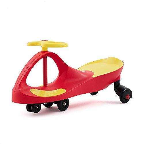 Havanadd-Toys Wiggle Scooter Car Wiggle Car Fluent Sliding Scooter Ride On Toy For Kids - Boys And Girls The Original Swing Wiggle Car/Bike For Toddlers (Color : Red, Size : 80 * 33 * 41cm)