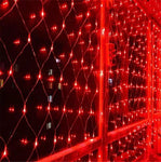 He-shop Fairy Net Light LED Waterproof Controller LED String Light Home Bedroom Outdoor Interior Decoration Red 8 * 10