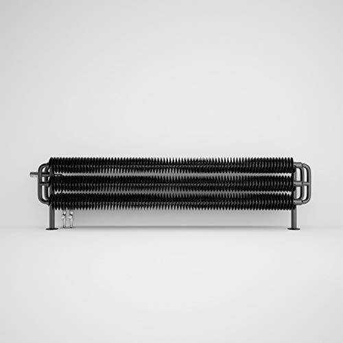 Heating Style Terma Ribbon HSD Horizontal Radiator 290 X 1540mm Metallic Black