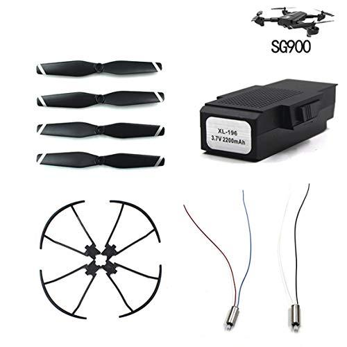 Heaviesk Wind Blade/Paddle+Protection Ring/Guard Circle+3.7v Motor+3.7V 2200mA Battery For Sg900 Quadcopter Accessories