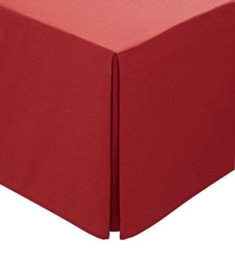 Helena Springfield Plain Dye Percale 50/50 Valance Sheet, Double, Red
