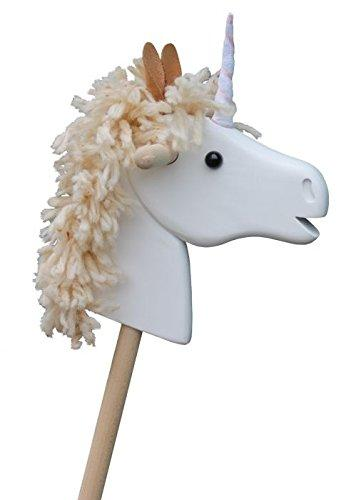 Helga Kreft Unicorn hobby horse wooden- hand made- made in Germany