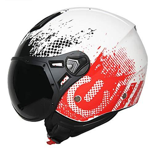 Helmet Half-covered Motorcycle Four Seasons Universal Summer Half Men And Women Personality International Safety Certification Standards (Color : A, Size : L)