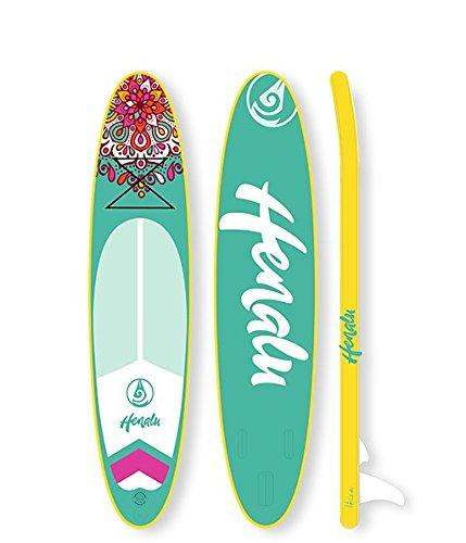 "'henalu Paddle Surf Inflatable - Manali 10' 6 x 32 ""x 6 Includes Paddle, Backpack, Keel, Pump."