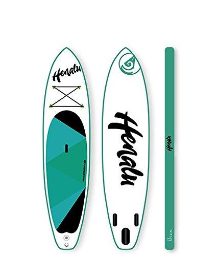 "'henalu's Inflatable Stand-Up Paddle Board - Moana 10 10 ""x 30"" x 6 + Paddle, Backpack, Pump and Keel."