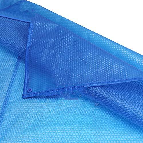 HH- Durable Dust Rainproof Solar Pool Cover,Paddling Swimming Pools Cover for Garden Indoor Outdoor,Rectangular,Blue (Size : 7×10m)