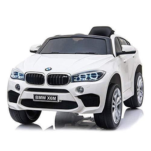 HHtoy 3-8 Years Old Baby Children's Electric Car Four-wheeled Human Toy Remote Control Rocking Racing -standard Version-music Early Education + Twin Motors With LED Lights(white)