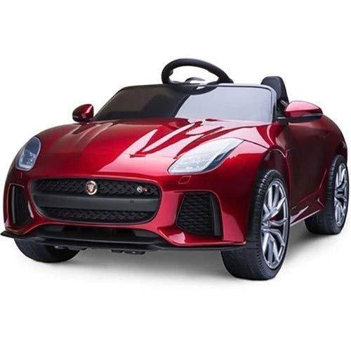 HHtoy RC Electric Car Four-wheeled Human Toy 2.4G Remote Control Rocking Racing 4x4 Kids With Control LED Lights, Leather Seat, Eva Wheels, AUX In&Music Child's Toy For Gift(red)