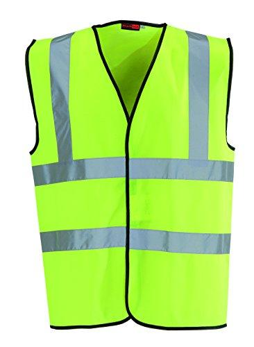 Hi Vis High Viz Visibility Vest Waistcoat Jacket Yellow or Orange Safety EN471
