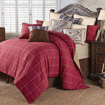 HiEnd Accents 4 PC South Haven Bedding Set, Super King, Red
