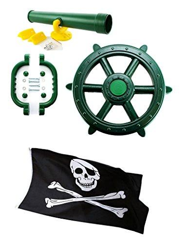 PIRATE STEERING WHEEL TELESCOPE perfect set for CLIMBING FRAME**FREE P/&P**
