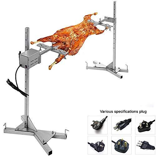 Himamk Fully Automatic Electric Grill BBQ Rack, 15W Stainless Steel Barbecue Set Outdoor Large Grill Barbecue Stove Portable Outdoor,AutoBBQ