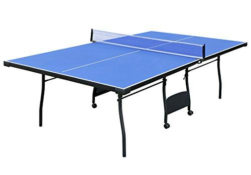 ... Hj Indoor Full Size Blue Table Tennis Table Folding Ping Pong Table  With Waterproof Zipper Cover ...