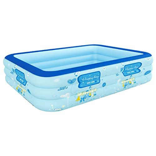 Hjbh123 HJBH Plastic Material Bathtub Children's Pool Home Adult Oversized Thickening Bath Toy Inflatable Pool (blue) Size: Length 210CM * Width 150CM * Height 60CM