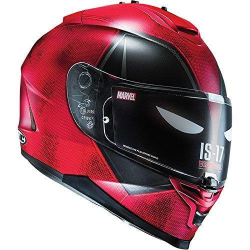 HJC IS-17 Full Face Motorcycle Sports Helmet - Marvel Deadpool Limited Edition