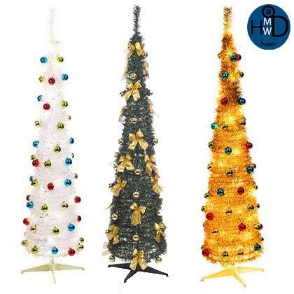 hmwd 6 ft artificial pop up christmas trees pre decorated with led