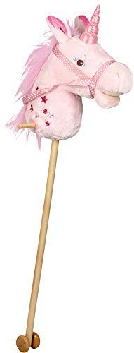 Hobby Horse Unicorn (head and stick) with Glittering Horn and Embroidery 90cm